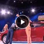 【放送事故】ロシアのテレビ番組で男性が女性を投げ飛ばし顔面パンチ(;・∀・)