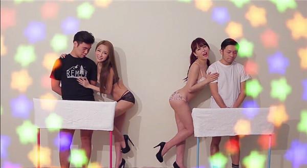 台湾の美女2人が街でナンパして『手コキ対決』する!という非常にくだらない番組w2