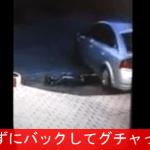 【事故映像】 酔って寝ている少年 ⇒ 知らずにバックする車 ⇒ グチャ